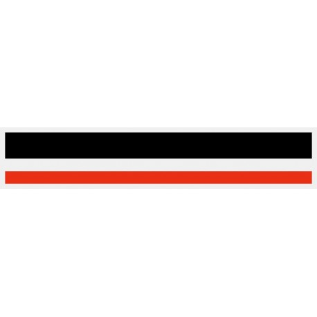 """1/2"""" x 150 ft. Black & Red 2 Color Pinstripe Tape"""