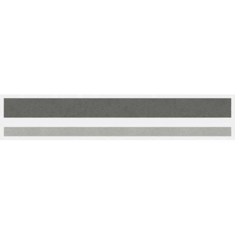 """1/2"""" x 150 ft. Charcoal Met. & Silver Met. 2 Color Pinstripe Tape"""
