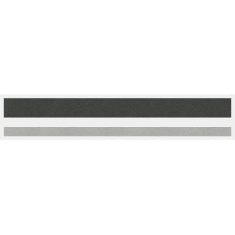 """1/2"""" x 150 ft. Dark Charcoal Met. & Silver Met. 2 Color Pinstripe Tape"""