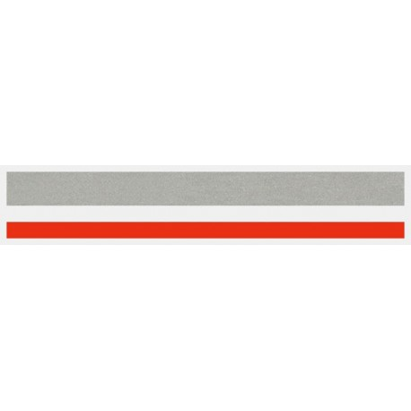"""1/2"""" x 150 ft. Silver Met. & Red 2 Color Pinstripe Tape"""