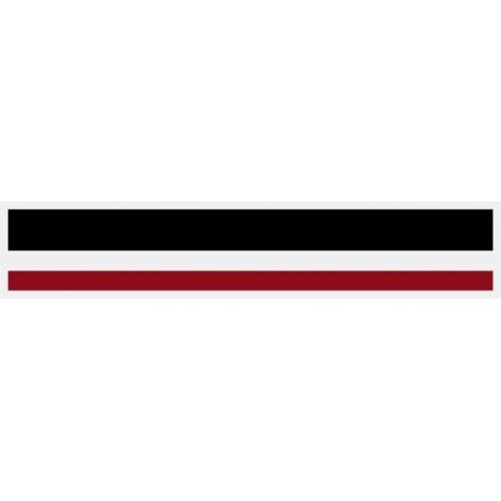"1/2"" x 150 ft. Black & Burgundy 2 Color Pinstripe Tape"