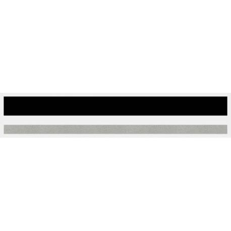 "1/2"" x 150 ft. Black & Silver Met. 2 Color Pinstripe Tape"