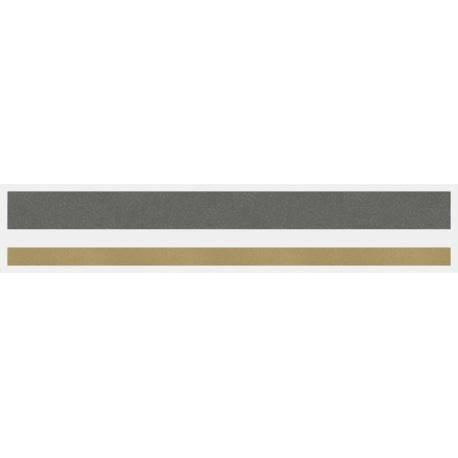 "1/2"" x 150 ft. Charcoal Met. & Autumn Gold Met. 2 Color Pinstripe Tape"