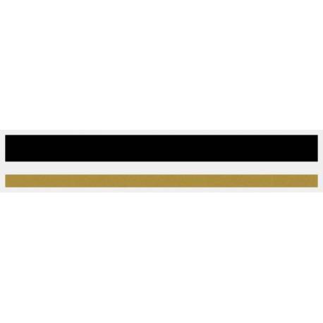 "1/2"" x 150 ft. Black & Gold Met. 2 Color Pinstripe Tape"