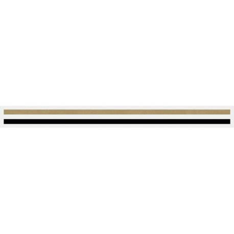 "3/16"" x 150 ft. Autumn Gold Met. & Black 2 Color Pinstripe Tape"