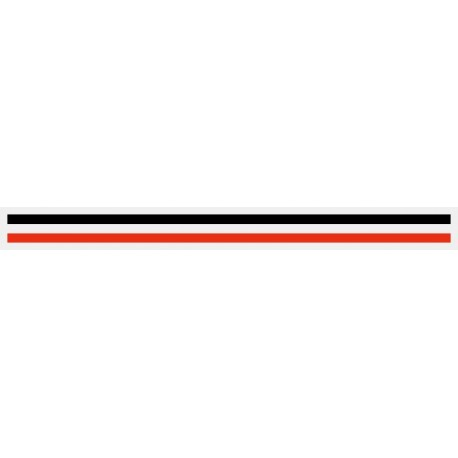 """3/16"""" x 150 ft. Black & Red 2 Color Pinstripe Tape"""