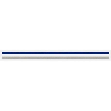 """3/16"""" x 150 ft. Electric Blue Met. & Silver Met. 2 Color Pinstripe Tape"""