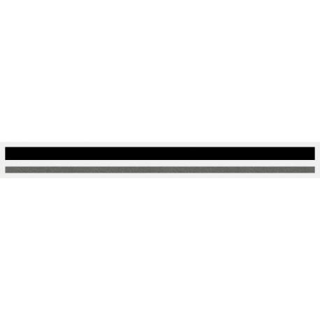 "4/16"" x 150 ft. Black & Charcoal Met. 2 Color Pinstripe Tape"