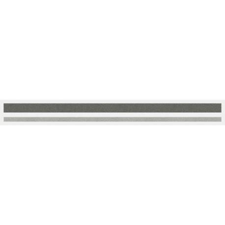 """4/16"""" x 150 ft. Charcoal Met. & Silver Met. 2 Color Pinstripe Tape"""