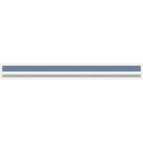 """4/16"""" x 150 ft. Mist Blue Met. & Silver Met. 2 Color Pinstripe Tape"""