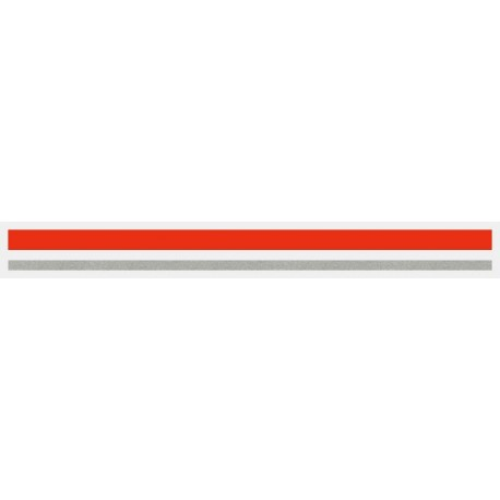 """4/16"""" x 150 ft. Red & Silver Met. 2 Color Pinstripe Tape"""