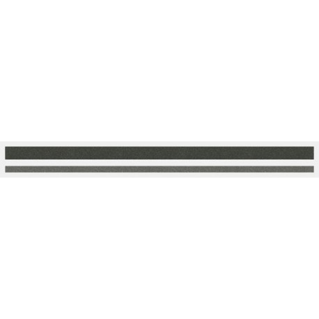 "4/16"" x 150 ft. Dark Charcoal Met. & Charcoal Met. 2 Color Pinstripe Tape"