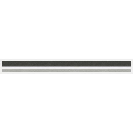 """4/16"""" x 150 ft. Dark Charcoal Met. & Silver Met. 2 Color Pinstripe Tape"""
