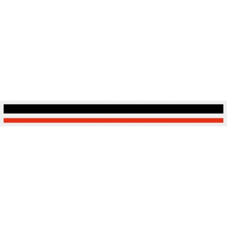 """4/16"""" x 150 ft. Black & Red 2 Color Pinstripe Tape"""