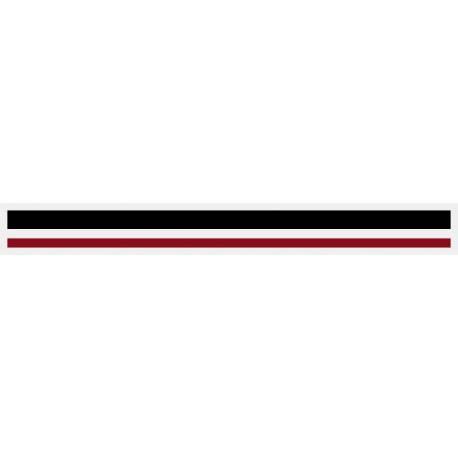 "4/16"" x 150 ft. Black & Burgundy 2 Color Pinstripe Tape"