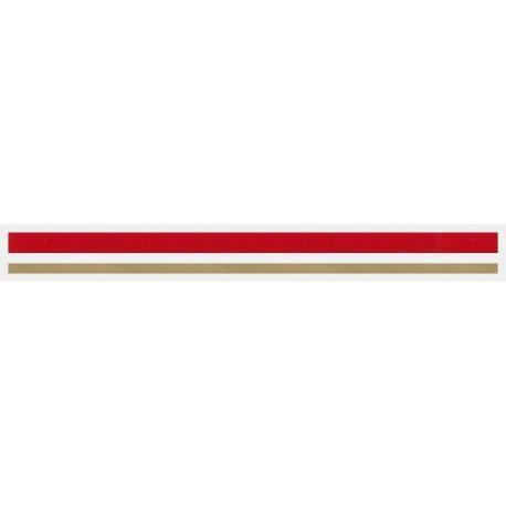 """4/16"""" x 150 ft. Red Met. & Autumn Gold Met. 2 Color Pinstripe Tape"""