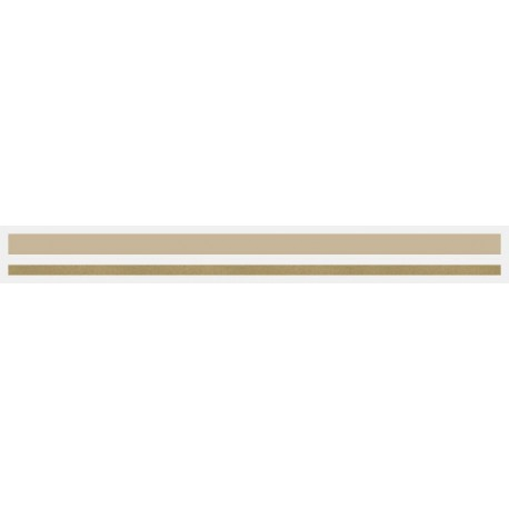 "4/16"" x 150 ft. Sandstone & Autumn Gold Met. 2 Color Pinstripe Tape"