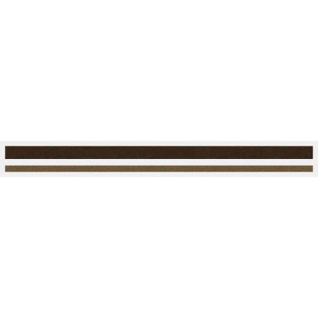 """4/16"""" x 150 ft. Chocolate Brown Met. & Light Doeskin Met. 2 Color Pinstripe Tape"""
