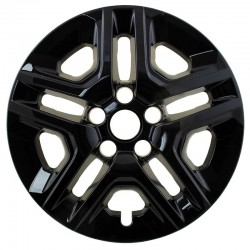 """2017-2018 Jeep Compass 16"""" Black Wheel Skins/Liners"""
