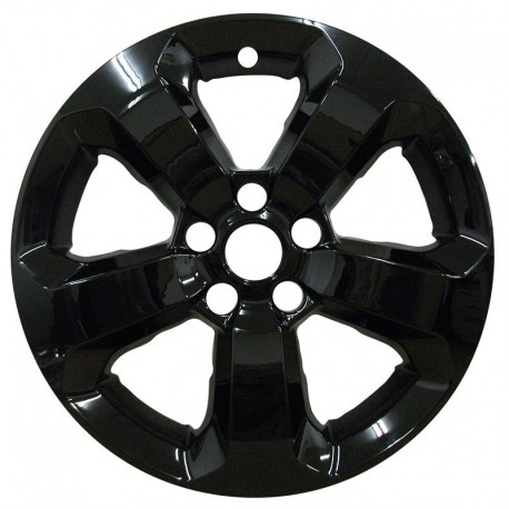 """2017 - 2019 Jeep Compass 17"""" Black Wheel Skins / Liners"""