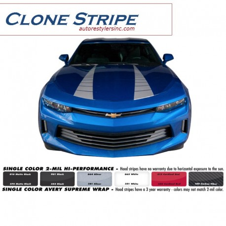 2016 Chevy Camaro Clone Stripe Graphics Kit
