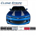 2016 Chevy Camaro Hood Clone Stripe Graphics Kit