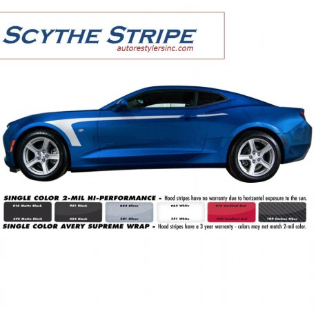 2016 Chevy Camaro Scythe Side Stripe Graphics Kit