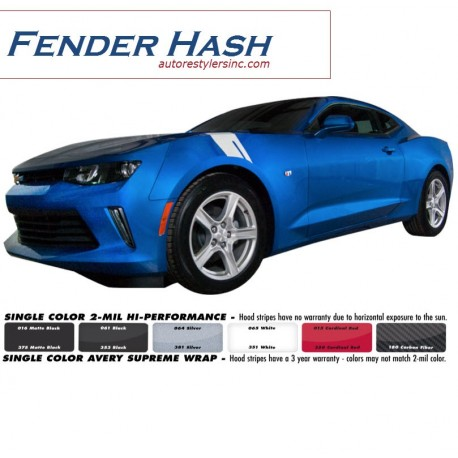 2016 Chevy Camaro Fender Hash Graphics Kit