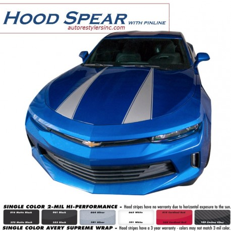 2016 Chevy Camaro Hood Spear with Pinline Graphics