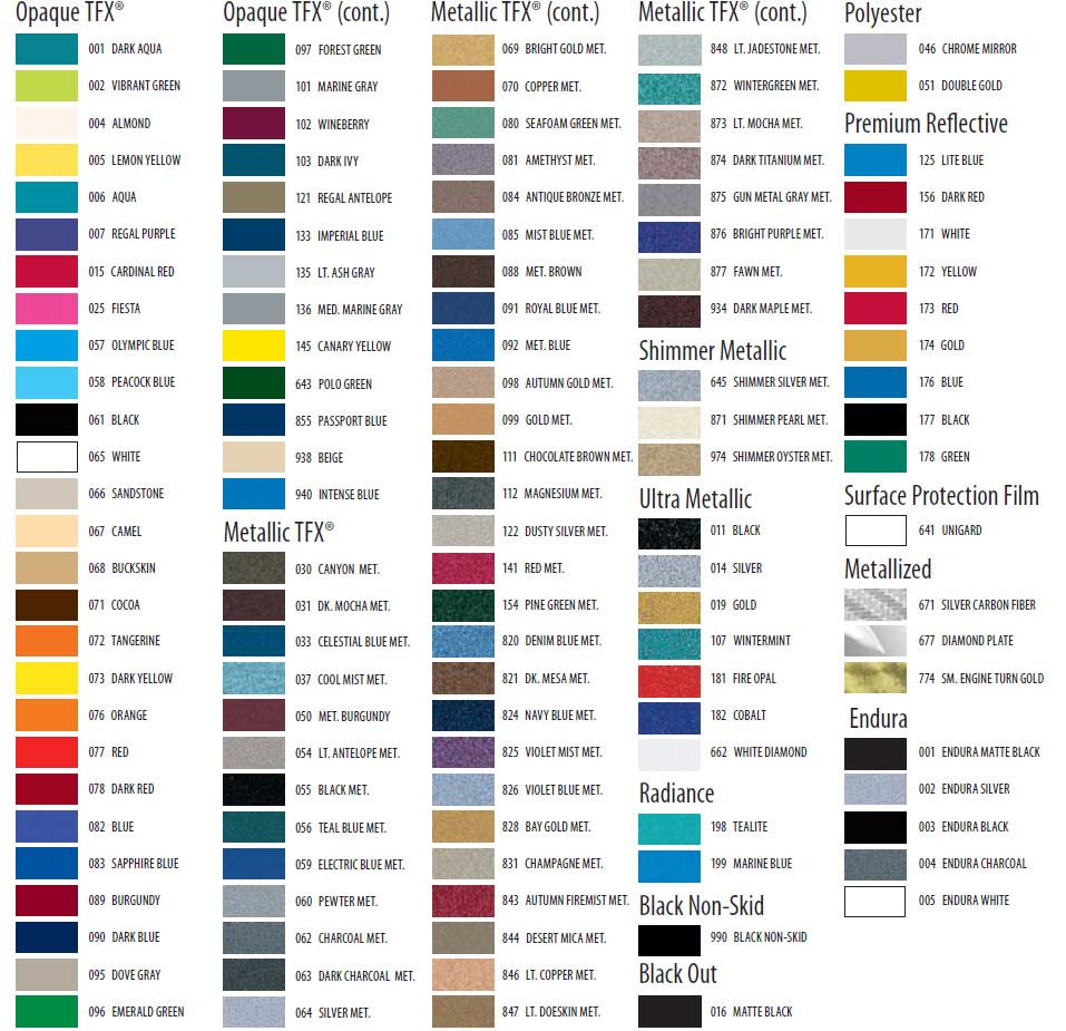 Pinstripe color charts auto restylers inc 2 color pinstripe color chart pinstripe tape nvjuhfo Images