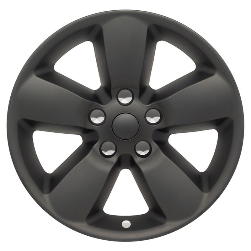 "2013-2018 Dodge Ram 1500 20"" Matte Black Wheel Skins"