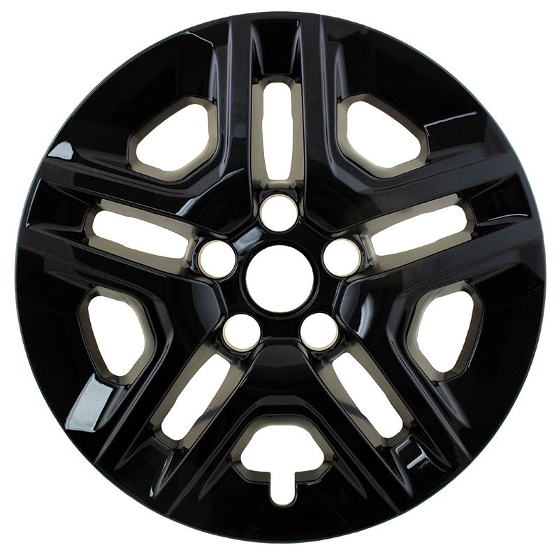 "2017-2018 Jeep Compass 16"" Black Wheel Skins"