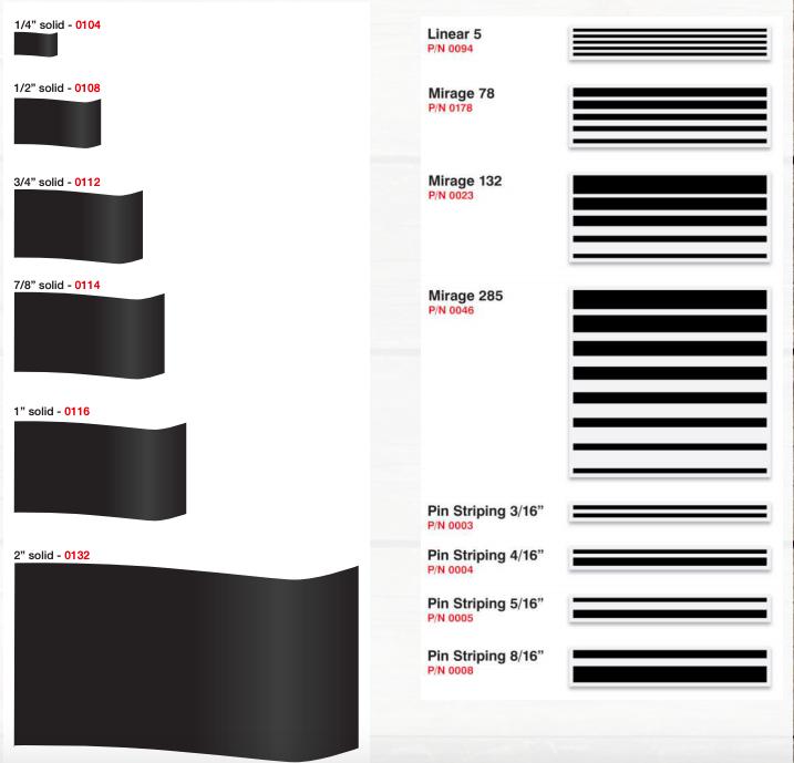 marine pinstriping tape sizes