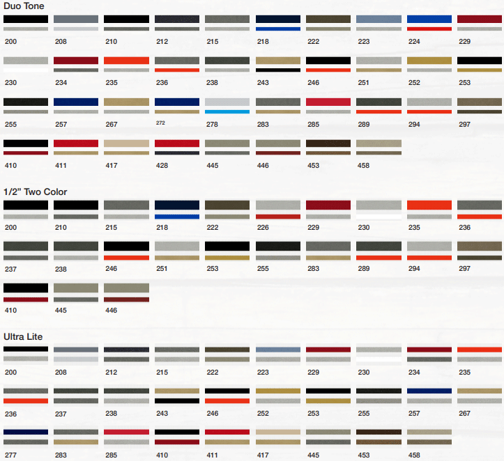 2 color striping tape chart for boats