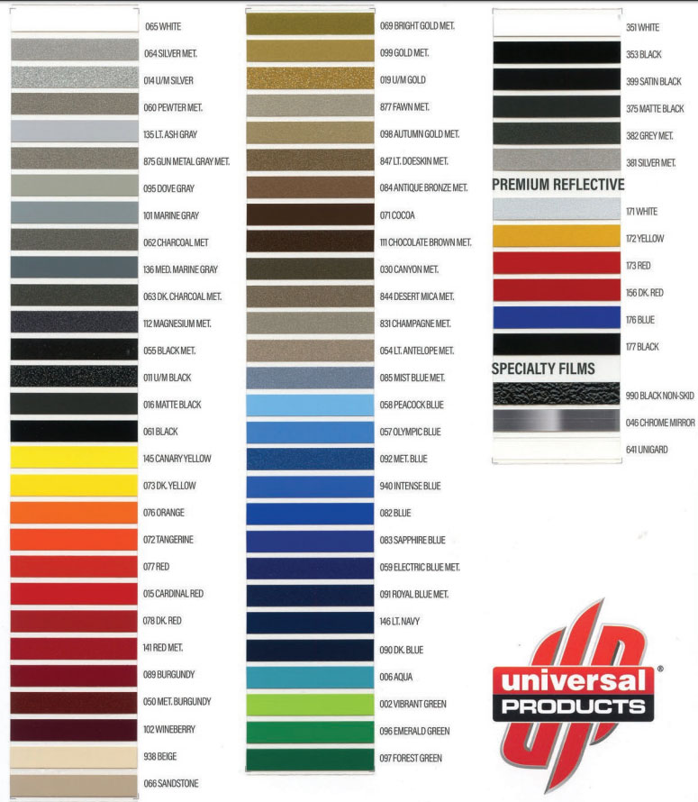 Avery pinstripe tape color chart